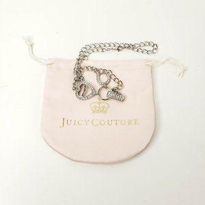 Juicy Couture Charm Necklace Heart Horseshoe Logo